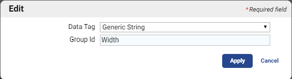 Generic String with Group ID: Width