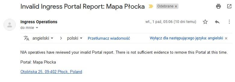 Invalid Ingress Portal Report Mapa Plocka Ingress