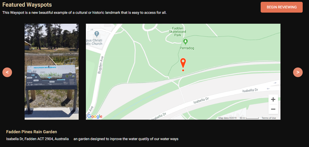 """""""an garden designed to inprove the water quatily of our water ways"""""""