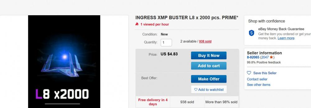Selling Gear On Ebay Ingress