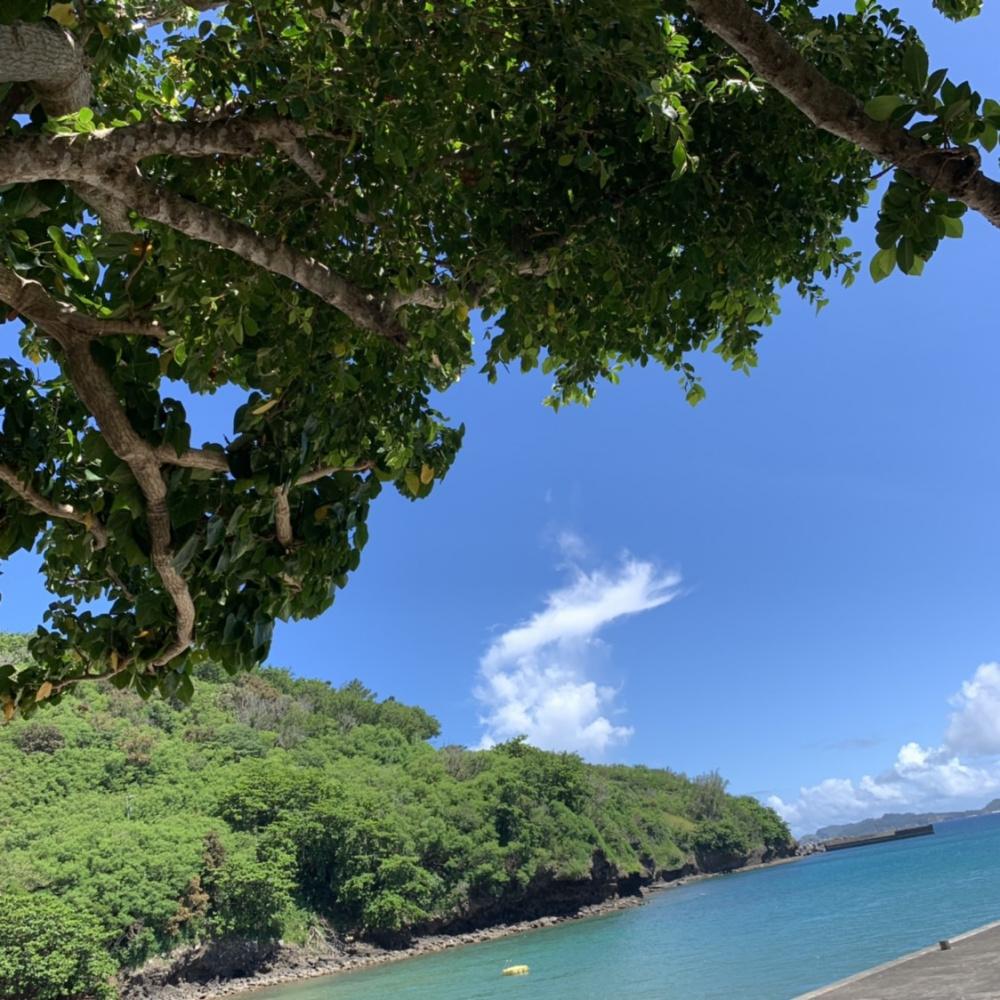Blue ocean and the blue sky, Hahajima Island, Ogasawara, Japan