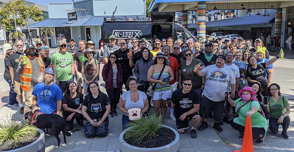 group photo at NL1331X in Oakland, US (11 July 2021)