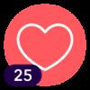¡25 Me encanta!