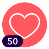 ¡50 Me encanta!