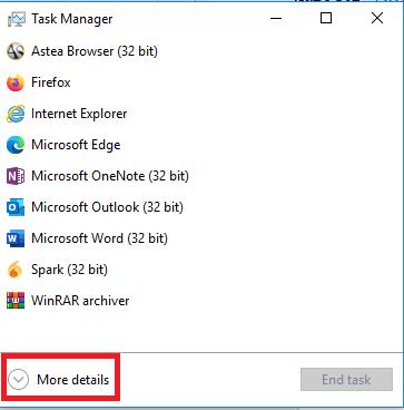 Task Manager, More details