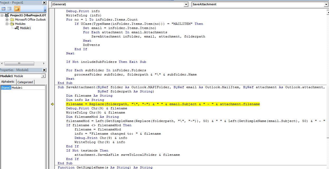 Outlook macro debug line.JPG