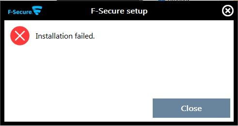 F-Secure installation failed.jpg
