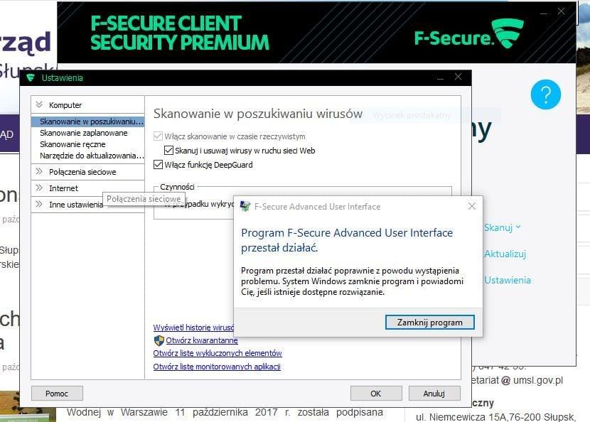 F-Secure error.jpg