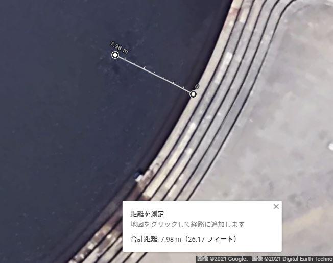 GoogleMapで距離を計測.JPG