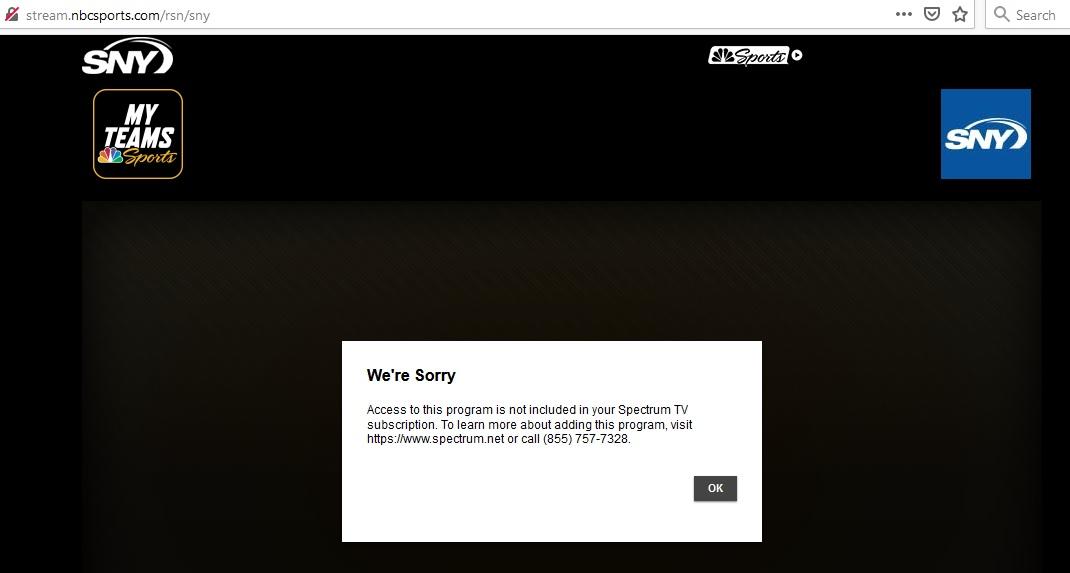SNY stream error.jpg
