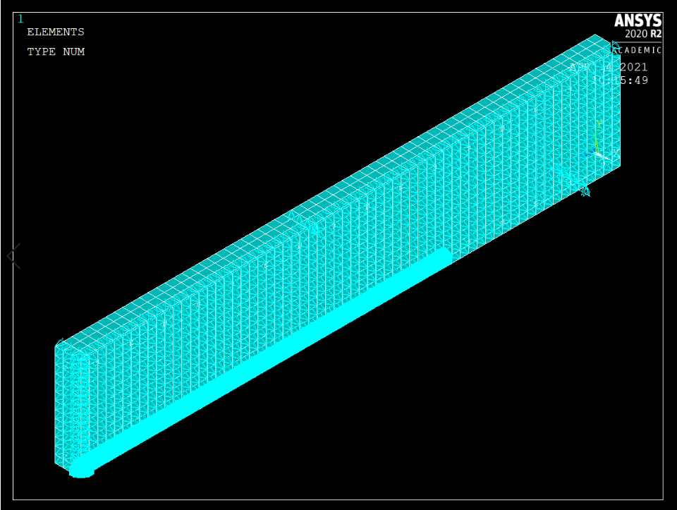 Isometric Quarter Beam with Boundary Conditions.PNG