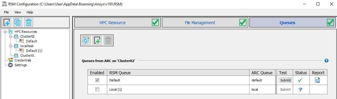 RSM configuration on master