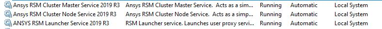 Services on master