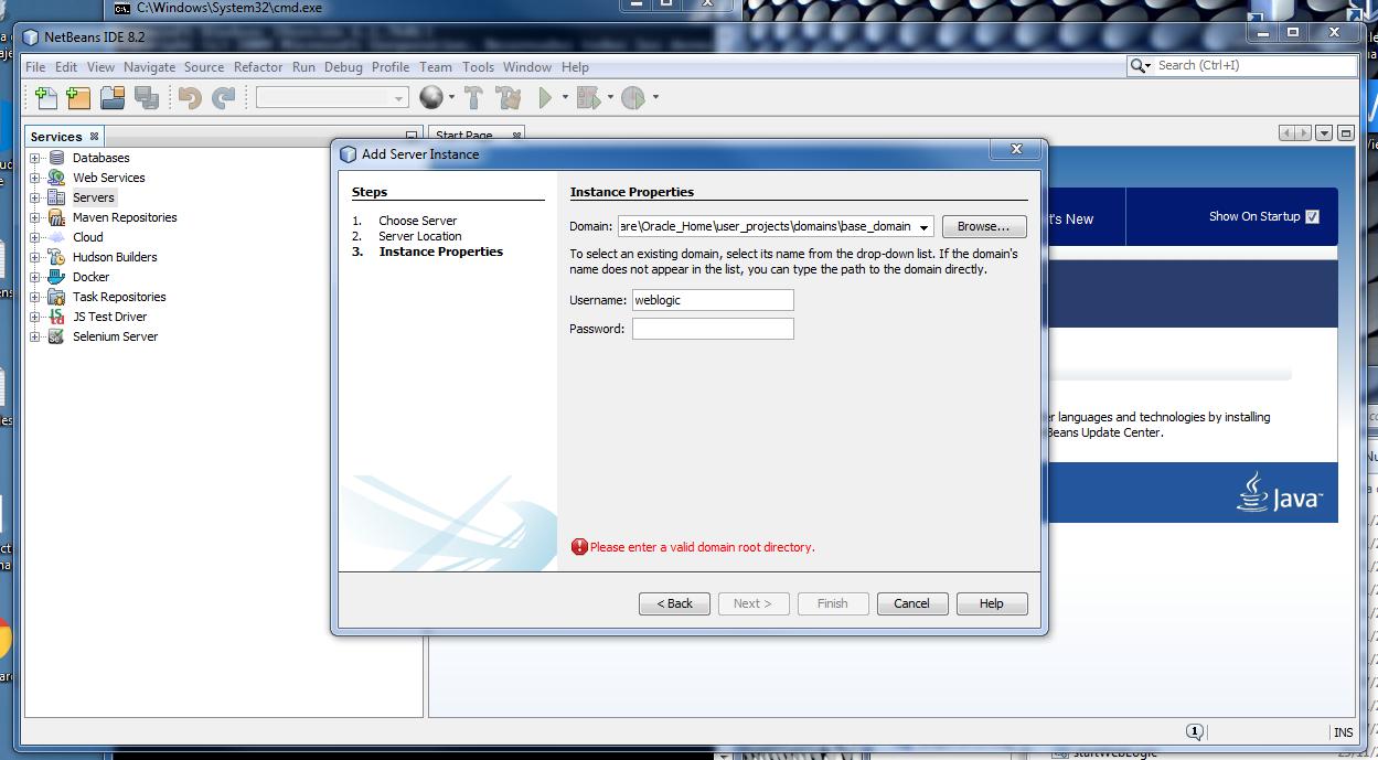 Netbean error Weblogic Server-Domain.png