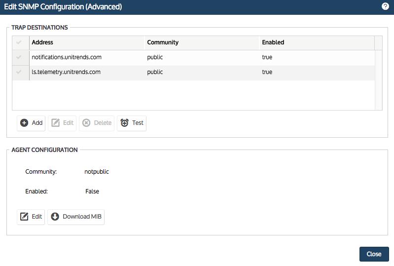 Edit SNMP Configuration
