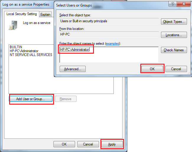Set Log on As A Service right to User by Powershell, Command Prompt, C# and VBScript