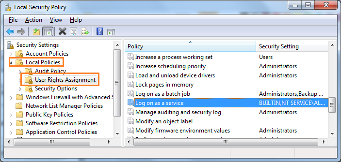 Set Logon As A Service rights to User by Command Line, C#, Powershell and VBScript
