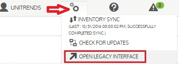HTML5 to Legacy Interface. Click gears icon (top right), the select OPEN LEGACY...