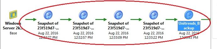 Screenshot showing multiple snapshots.