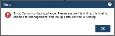 xg-portal service error