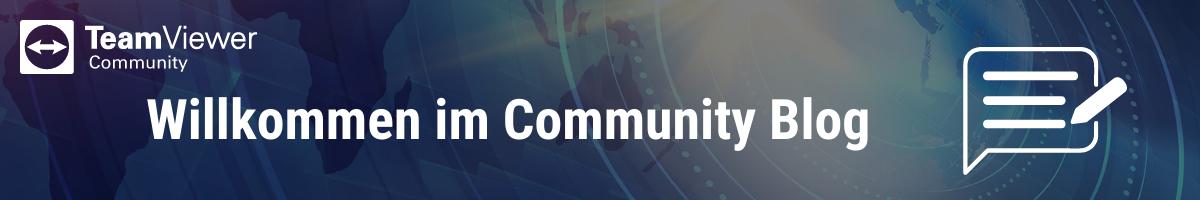 Willkommen im Community Blog