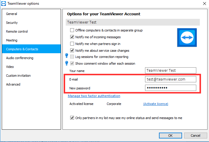 How can I change the email address or password of my TeamViewer account.png