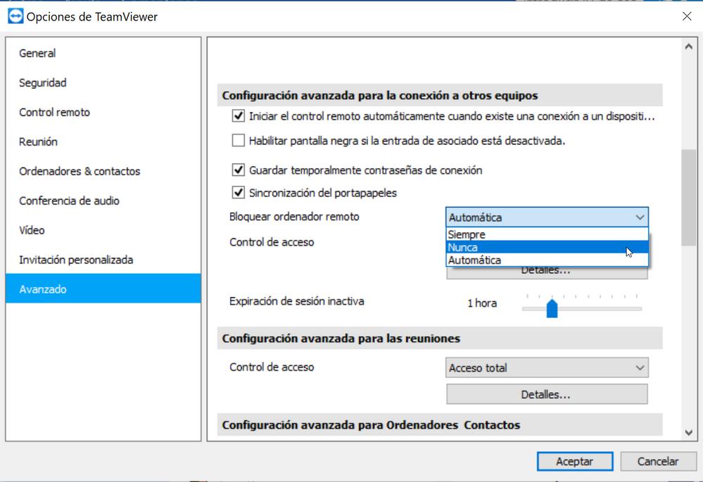 02_Client_Settings_Neverlock.png