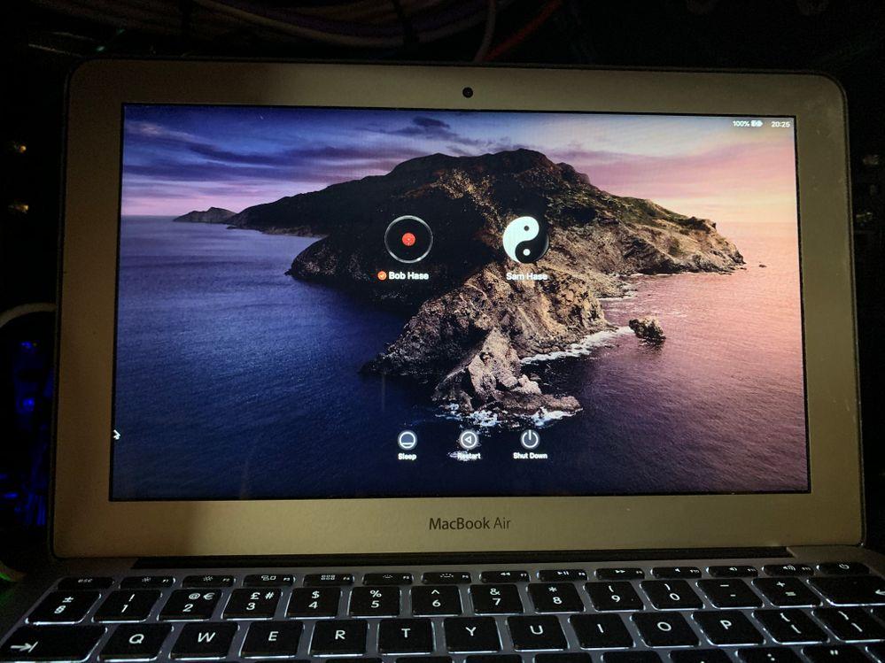 The actual remote Mac screen