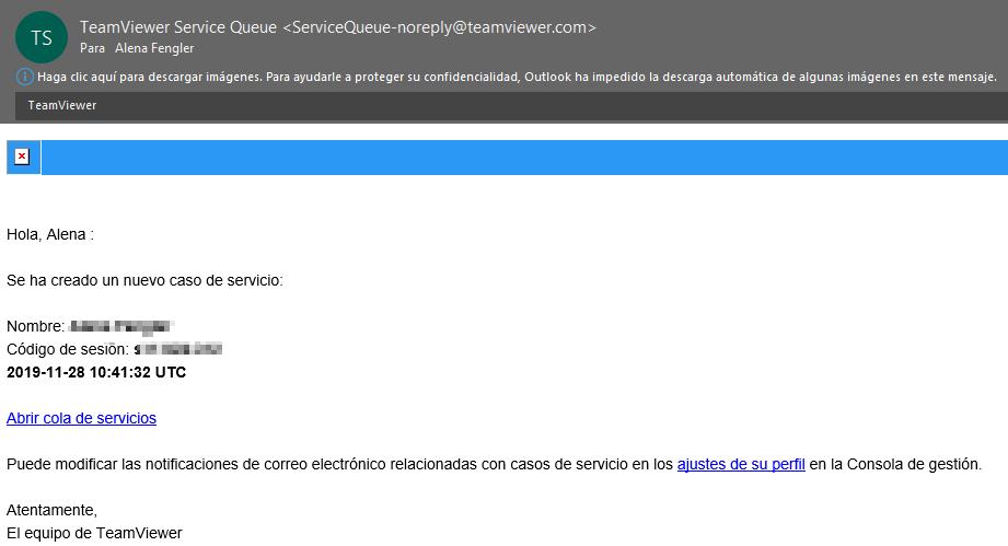 3. Notificaciones por correo electrónico para las nuevas solicitudes de servicio.