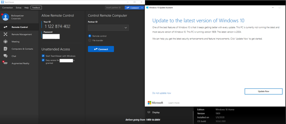 1_Teamviewer ID Changed after upgrade windows 10 2004 verion.png