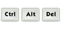 Ctrl + Alt + Del (for Windows)