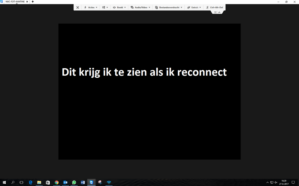 Translation: This is what i see when i reconnect