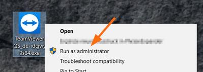 Ejecuta TeamViewer como administrador