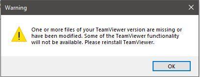 Fehlermeldung nach OS reboot