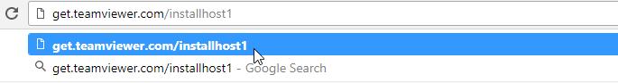 Se muestra una URL personalizada de Quicksupport siendo ejecutada localmente en el ordenador de destino