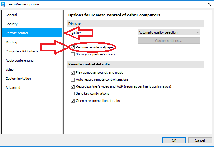 2. Go to the tab Remote control.    3. Untap Remove remote wallpaper.