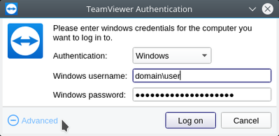 Connecting to a Windows machine using a domain user