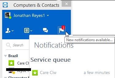 2. en el área de notificacionesde la aplicación de TeamViewer