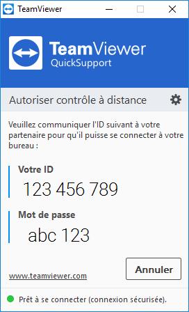 Interface du QuickSupport