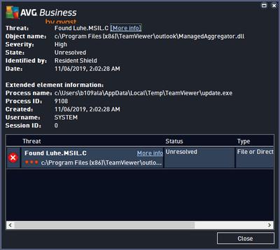AVG threat details