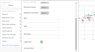 Log Scale axis option