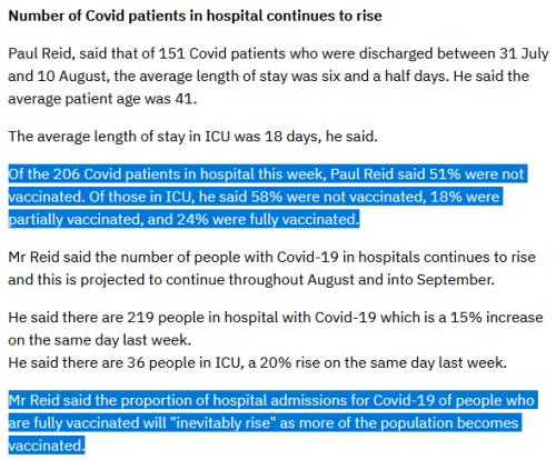 HSE Briefing August 12 Numbers