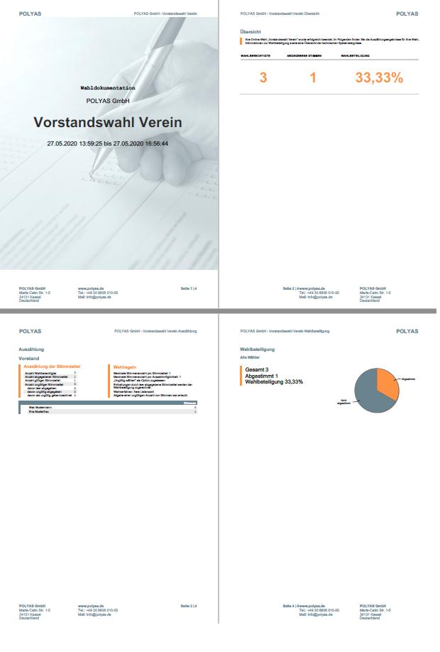 Beispiel: Wahlergebnis als PDF.